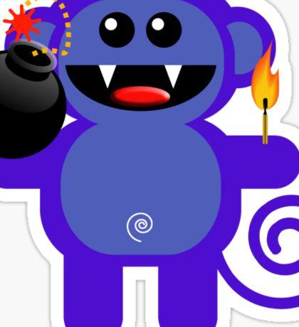 MUNKEY 4  (Cute pet has a bomb and its alight!) Sticker