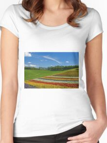 Flower Hill Women's Fitted Scoop T-Shirt