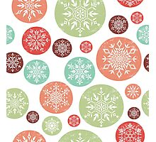 Vintage Snowflake Pattern Photographic Print