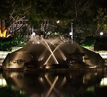 Civic Park Water Sculpture - Newcastle NSW  by Park Lane  Photography