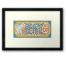 BEANZ Framed Print