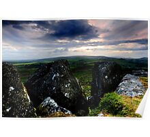 Dusk on Dartmoor II Poster