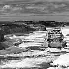 Victorian Coast in B&amp;W by Adam Spence