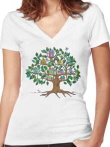 Everybody's Welcome Here Women's Fitted V-Neck T-Shirt