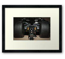 Batman Stare with Tumbler Framed Print
