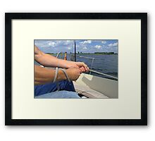 "As I said: ""He's a very good Sailer!"" Framed Print"
