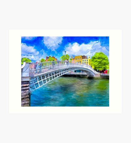 The Ha'Penny Bridge - Historic Dublin Ireland Landmark Art Print