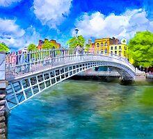 The Ha'Penny Bridge - Historic Dublin Ireland Landmark by Mark Tisdale