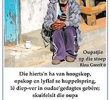 Kontrei Kiekies - Oupatjie op die stoep by Rina Greeff