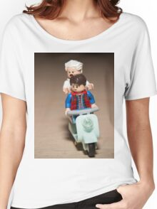Marty and Doc Brown ride a Scooter Women's Relaxed Fit T-Shirt