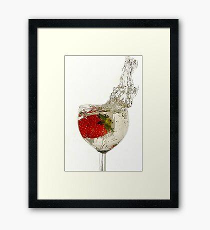 Straw Berry Splash...... Framed Print