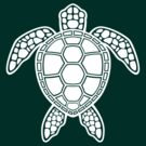 Green Sea Turtle Design - White by fizzgig