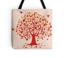 Embracing Fall  Tote Bag