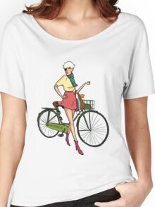 Agyness Deyn Cartoon Tshirt Women's Relaxed Fit T-Shirt