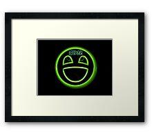 EDM neon smiley face Framed Print