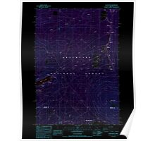 USGS Topo Map Oregon Black Butte 279053 1988 24000 Inverted Poster