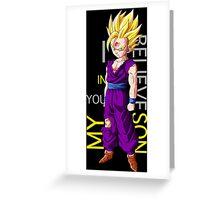 dragon ball z gohan super saiyan i believe in you my son anime manga shirt Greeting Card