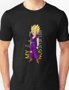 dragon ball z gohan super saiyan i believe in you my son anime manga shirt T-Shirt