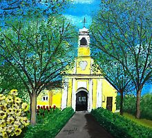 Little Yellow Church/Hungary by maggie326