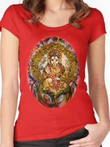 Lord Ganesha Women's Fitted Scoop T-Shirt