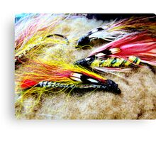 Vintage Fly Fishing Flies  Canvas Print