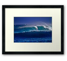 Surfer at Sunset Beach Framed Print
