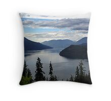 Slocan Lake, Looking North Throw Pillow