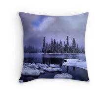 Cold Snow at Big Lake Throw Pillow