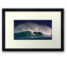 Surfer at Sunset Beach 2 Framed Print