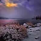 Winters Snow at Big Lake by Charles & Patricia   Harkins ~ Picture Oregon