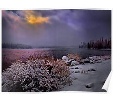 Winters Snow at Big Lake Poster