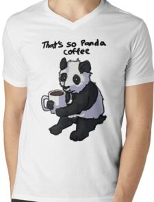 That's So Panda Coffee Mens V-Neck T-Shirt