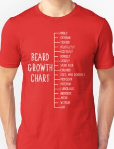 Beard Growth Chart Funny Black T-Shirt
