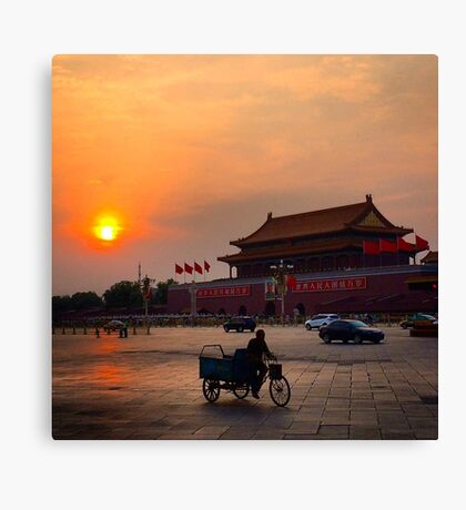 Sunset over the Forbidden City Canvas Print