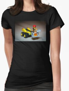 Lego Worker on Lift Construction Womens Fitted T-Shirt