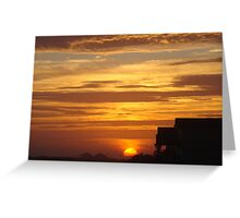 Sun Sinking into the Earth Greeting Card