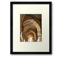 Arched Doorways Jaipur City Palace Framed Print