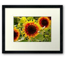 Painted Sunflower Framed Print