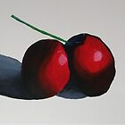 Cherries  : Still life  by Simon Rudd