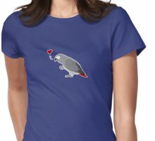 African Grey Love Womens Fitted T-Shirt