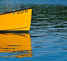 Boat Reflection, South Bristol, Maine by fauselr