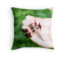 dragon in hand.. Throw Pillow
