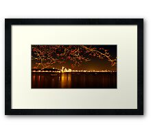 """City In Flame"" Framed Print"