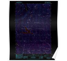 USGS Topo Map Oregon Wapinitia Pass 282011 1985 24000 Inverted Poster