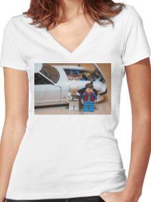 Z Doc Women's Fitted V-Neck T-Shirt