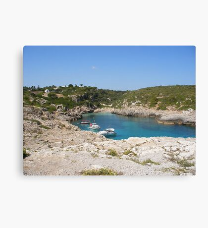 A quiet bay in Menorca. Canvas Print