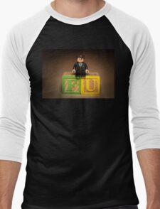 Frank Underwood on blocks Men's Baseball ¾ T-Shirt