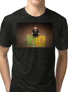 Frank Underwood on blocks Tri-blend T-Shirt