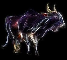 OX - Chinese Zodiac by Liane Pinel by Liane Pinel