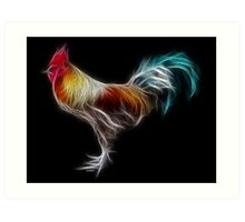 Rooster - Chinese Zodiac by Liane Pinel Art Print